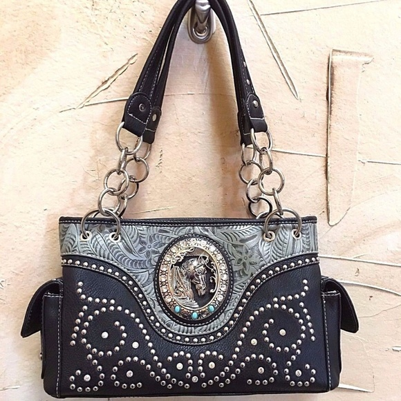 1a7c457b8e Western Floral Tooling Horse Conceal Carry Gun Bag